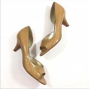 NWOT Jessica Simpson D'orsey Nude Kitten Peep Heel